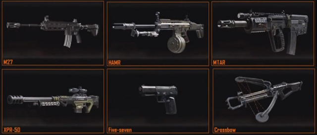 7 New Weapons Spotted M27 Mtar Hamr Xpr 50 Ksg Crossbow