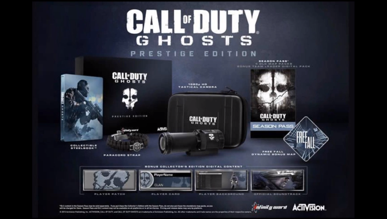 Interactive unboxing of the Call of Duty: Ghosts Prestige Edition ...