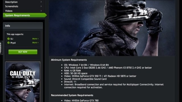 Minimum PC Requirements for Call of Duty: Ghosts confirmed | Charlie