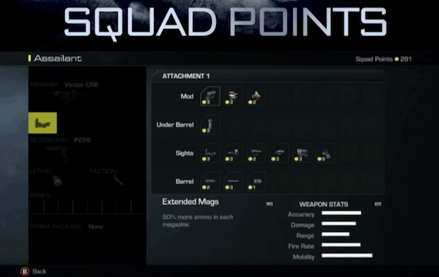 call of duty ghosts weapons attachments