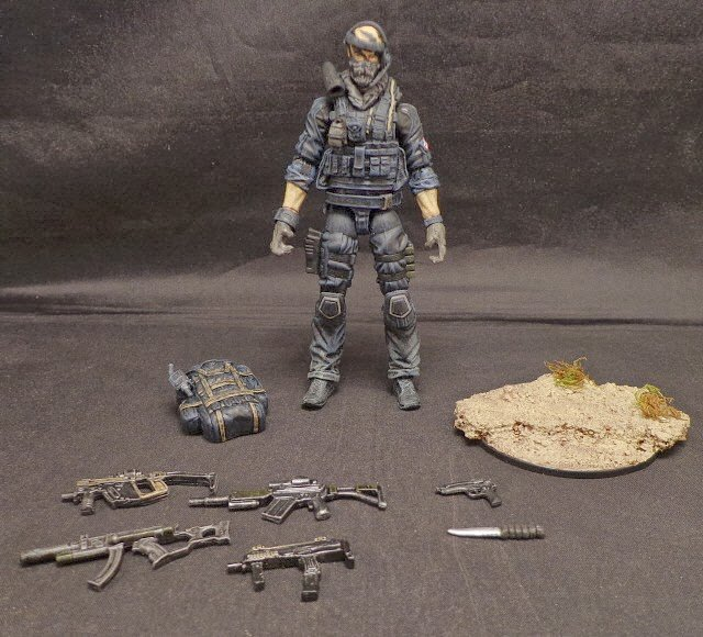 Amazing Call Of Duty Ghosts Custom Action Figures Charlie Intel