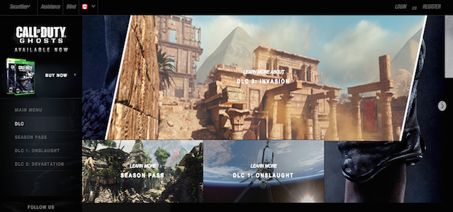 Ghosts Invasion DLC appears on official CoD site, image of 3 MP maps