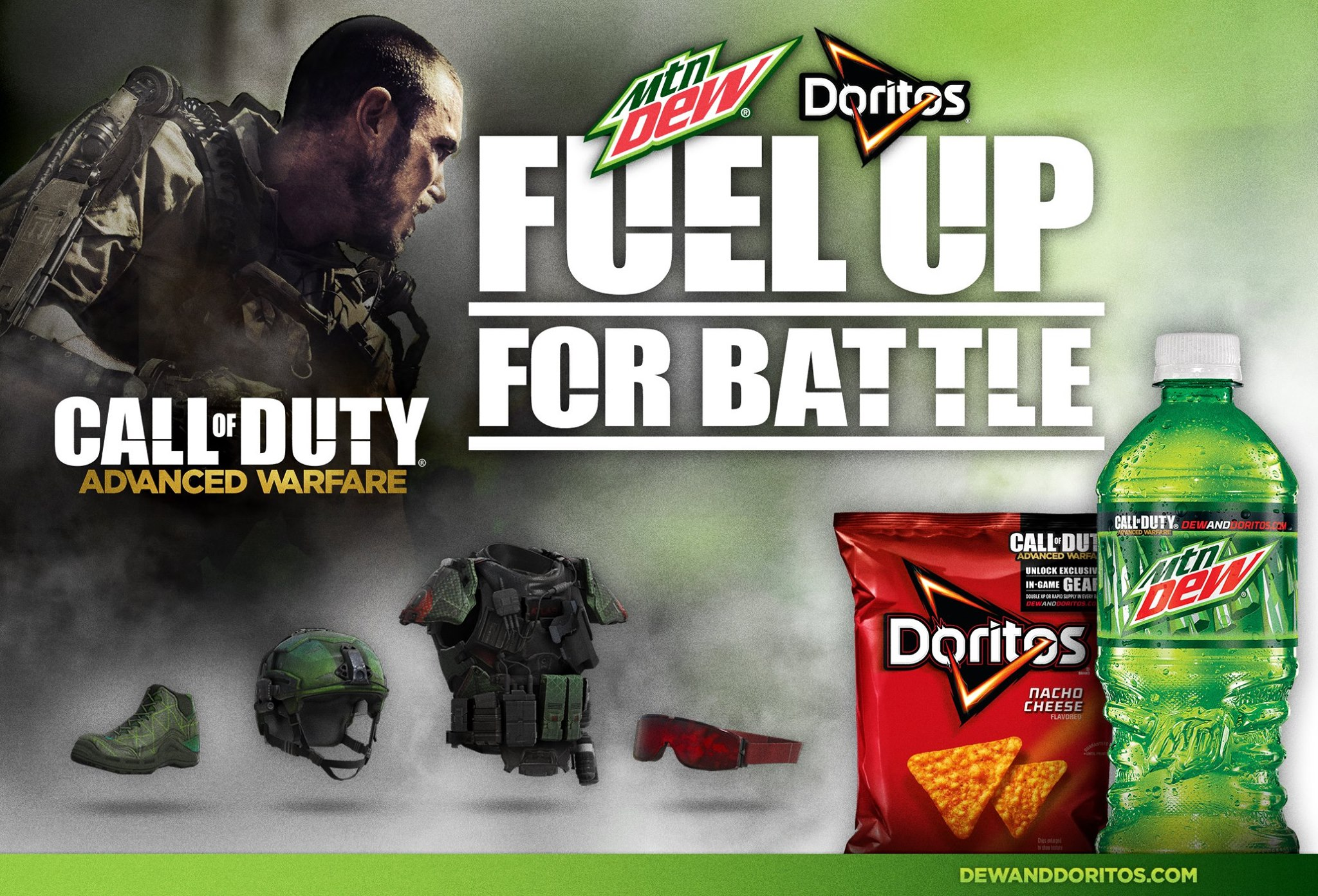 Advanced warfare fuel up for battle dew and doritos usa canadian