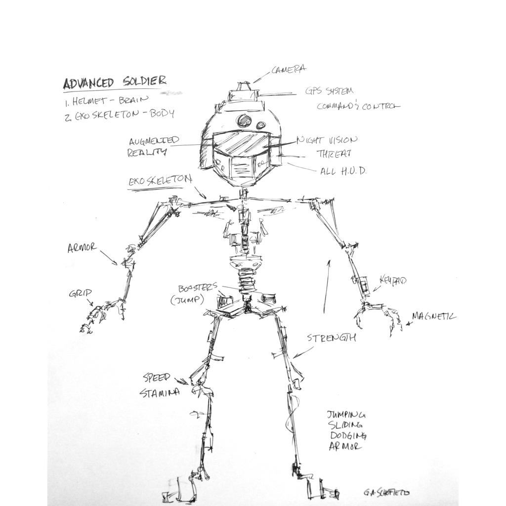 Coloring Pages Of Advanced Warfare : First concept art for advanced warfare soldier made in