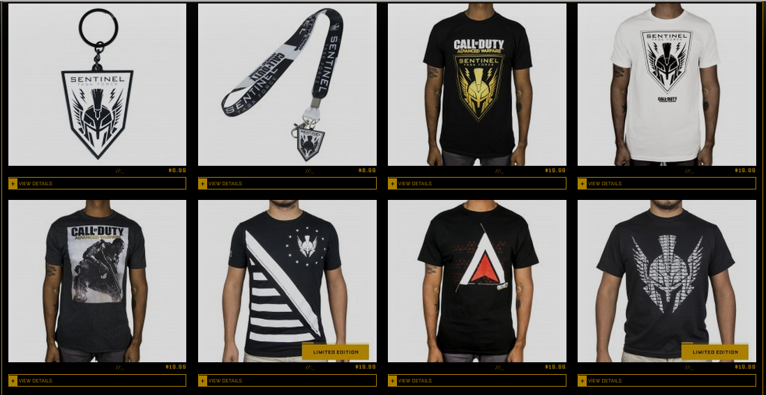 official call of duty advanced warfare apparel available for sale on official call of duty. Black Bedroom Furniture Sets. Home Design Ideas