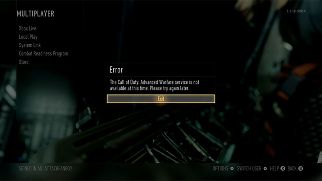 Can't find an online game on CoD Advanced Warfare