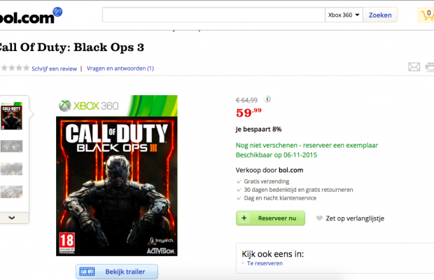 Is BO3 coming to the Xbox 360 and PS3? This website says ...Video Games Xbox 360 Bo3