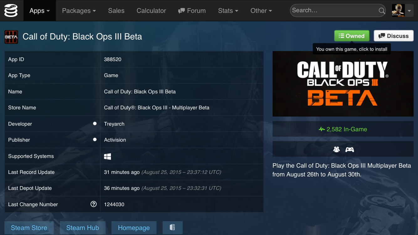 PC only: If you own Black Ops 2, Ghosts, or Advanced Warfare
