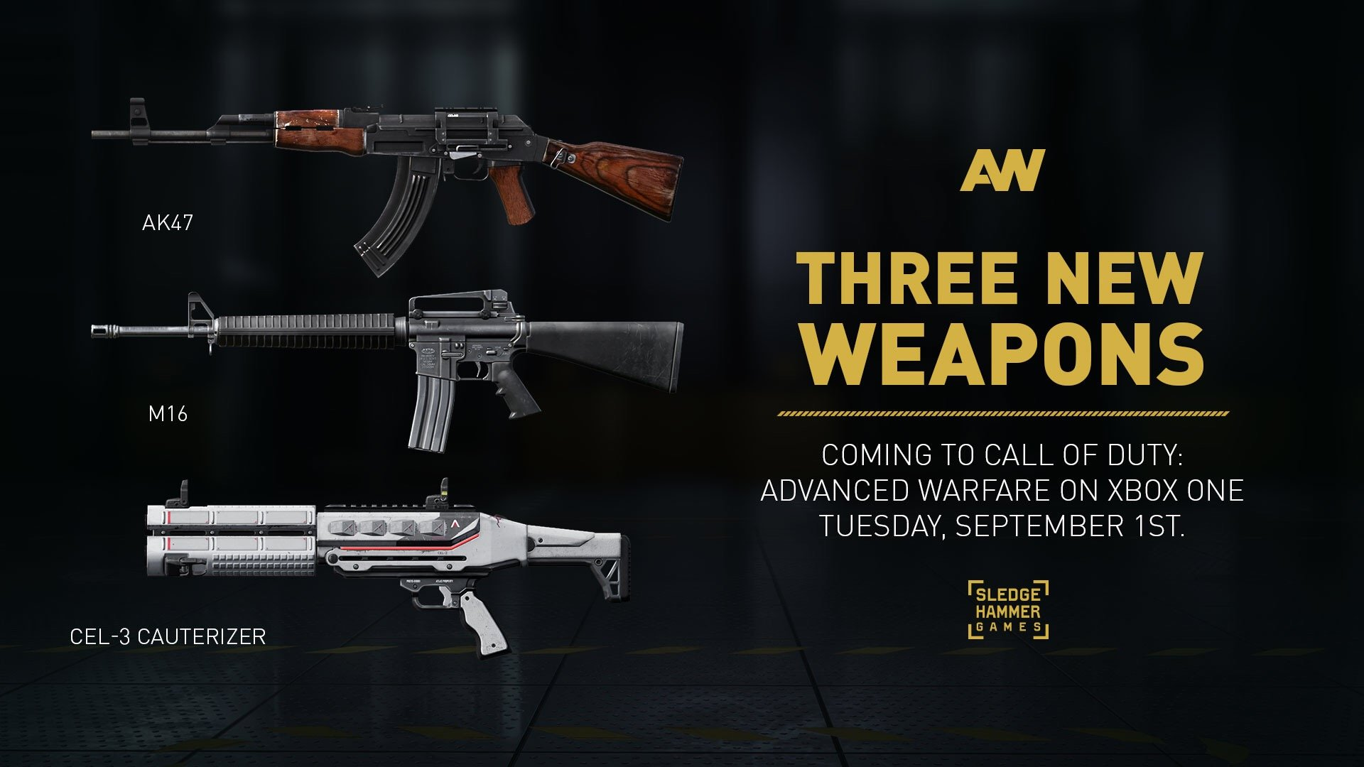 three new weapons new set of royalty weapons available sept 1st