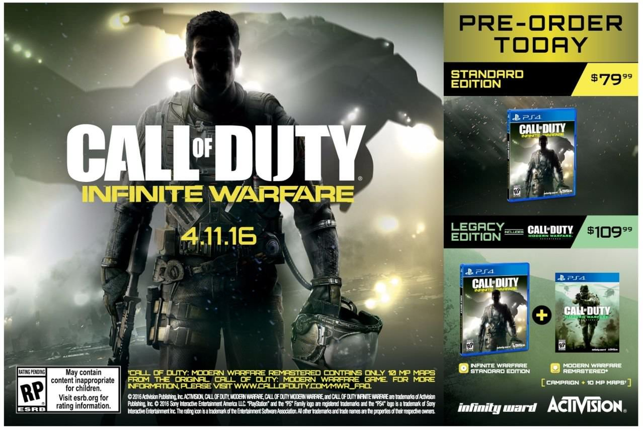 High-Res Infinite Warfare poster leaked: MW Remastered to include ...