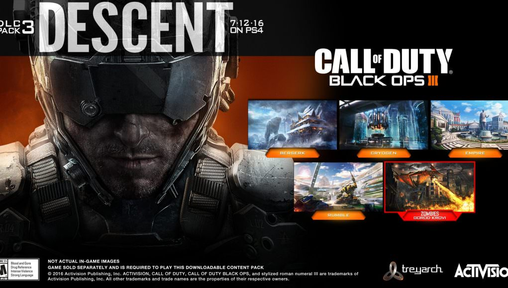 Call of Duty: Black Ops 3 Descent DLC Pack 3 available July 12th on Call Of Duty Map Pack on