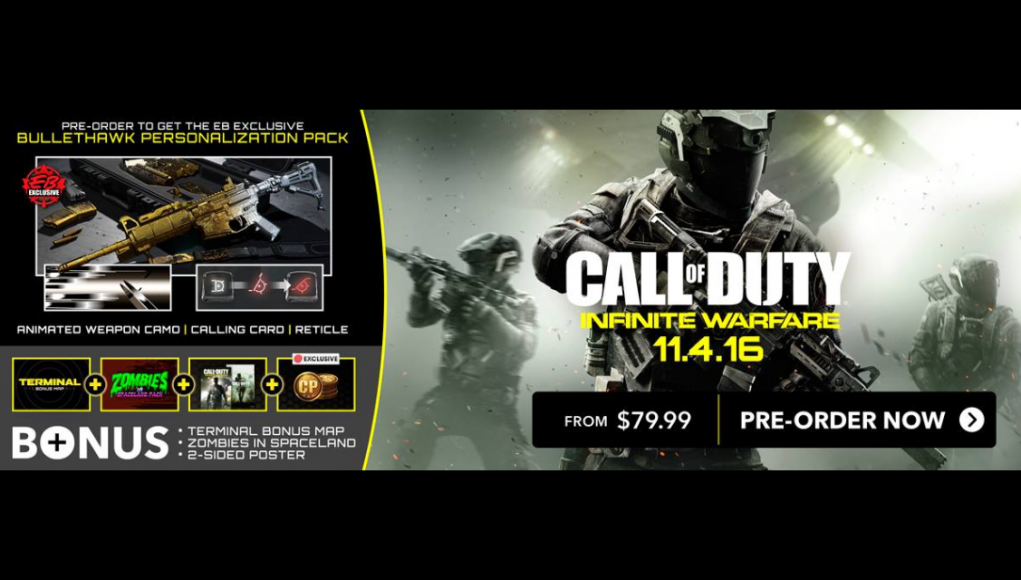 website for discount fashion meet New Preorder Bonus for Infinite Warfare revealed: get the ...