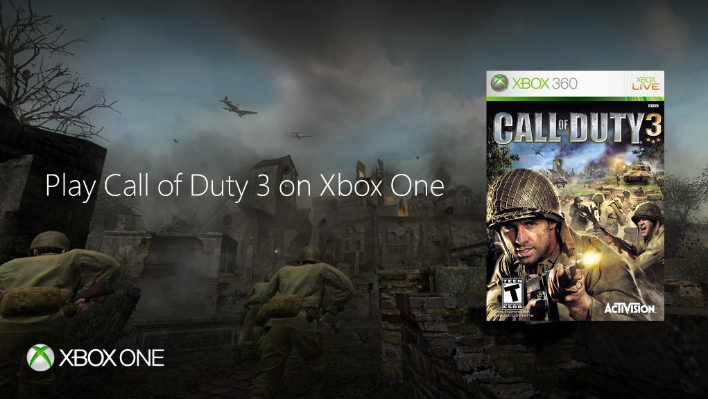 Call of Duty 3 available now on Xbox One backwards