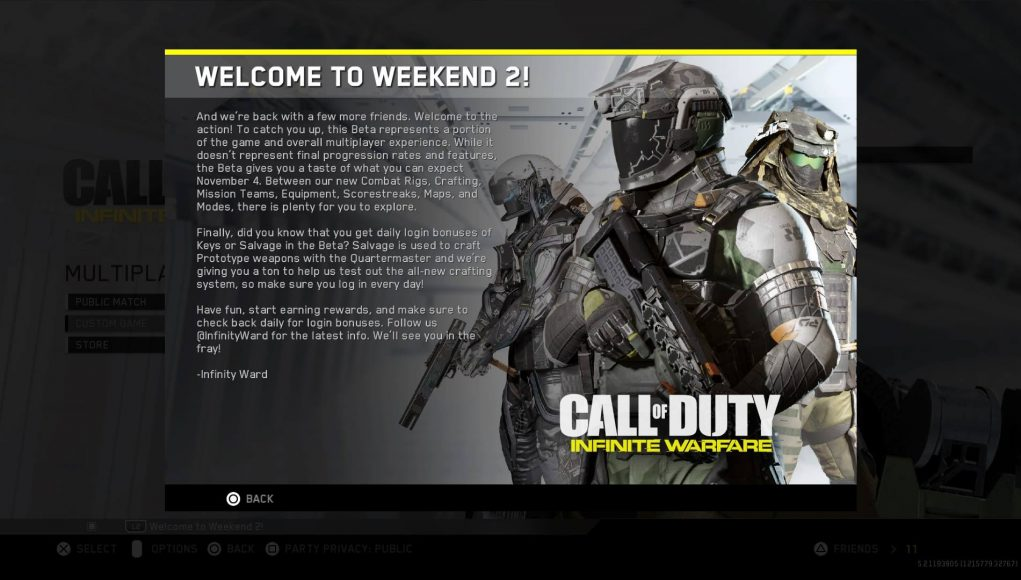 Call Of Duty Infinite Warfare Multiplayer Beta Weekend 2 Now Live