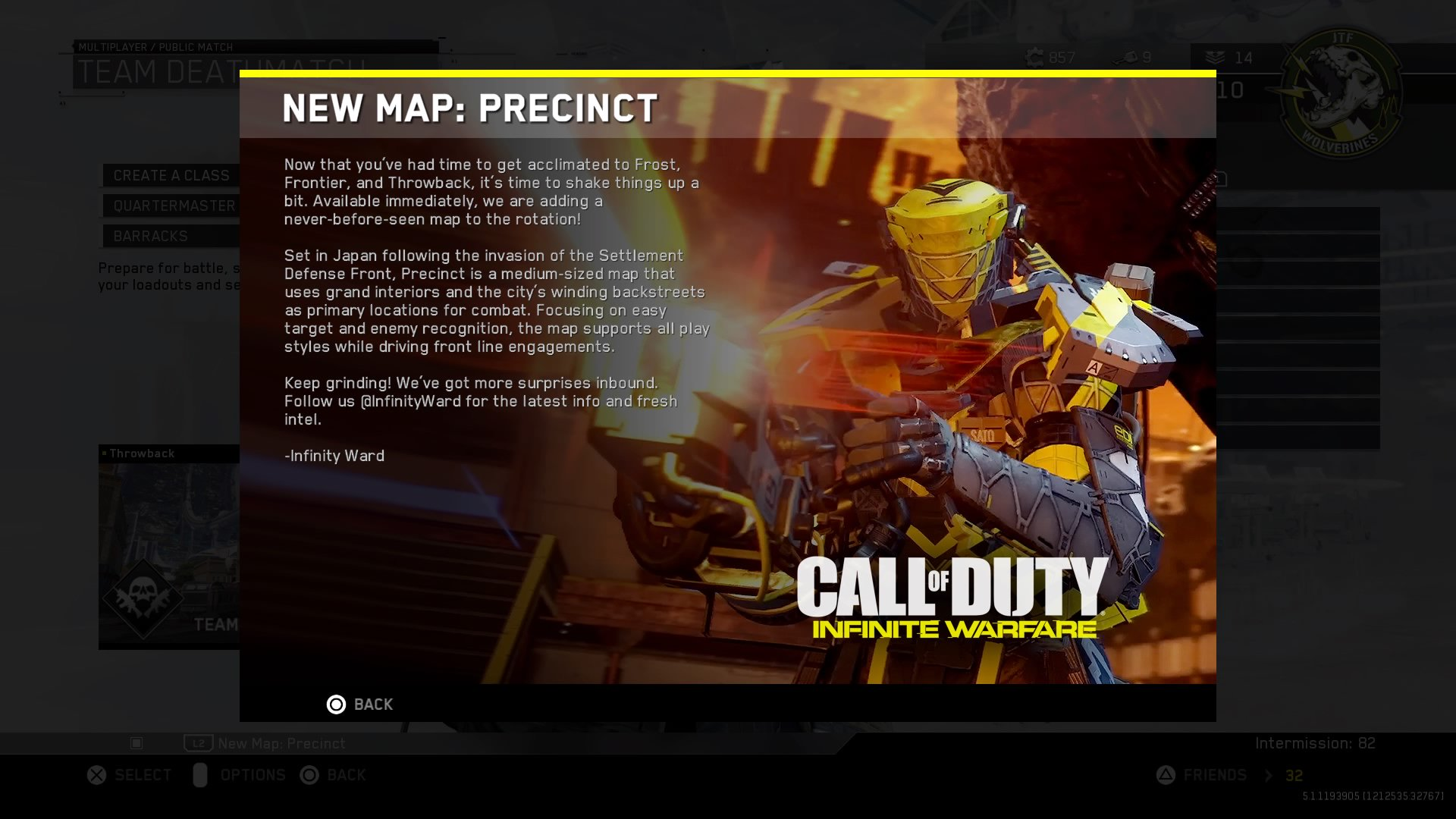 Precinct Map Us new infinite warfare beta update kill confirmed
