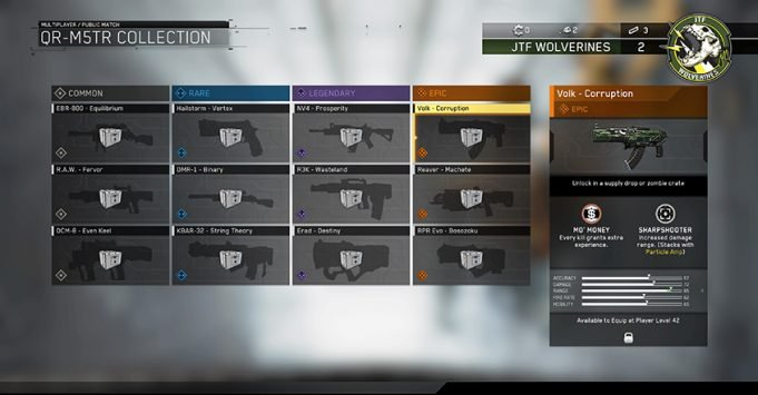 Select weapon variants in infinite warfare are exclusively unlocked