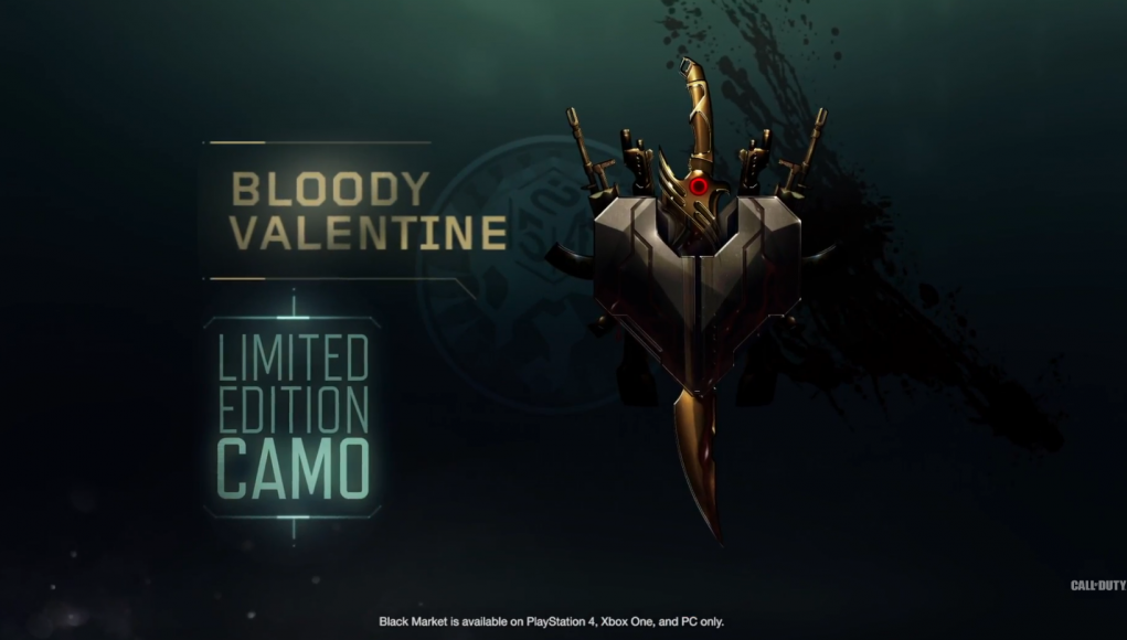 New 'Bloody Valentine' camo available in Black Ops 3 Black