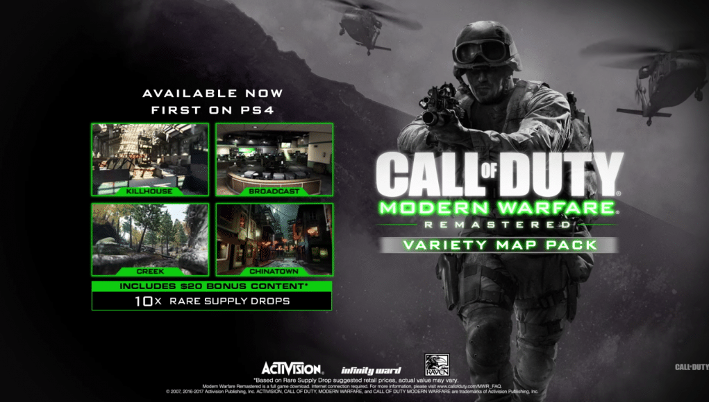 Modern warfare remastered variety map pack now available on ps4 modern warfare remastered variety map pack now available on ps4 gumiabroncs Gallery