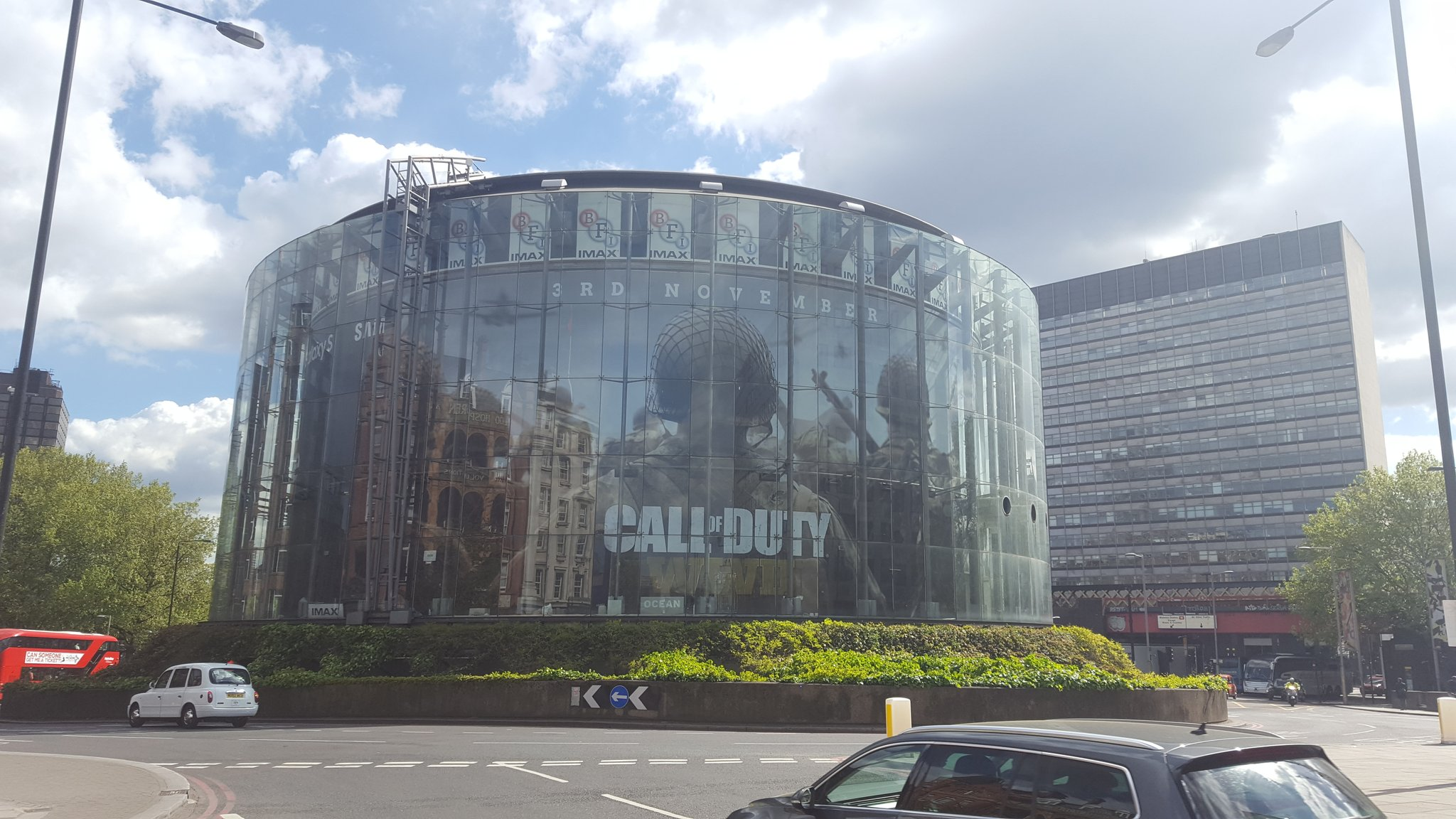 New call of duty commercial - Big Billboard Advertisements For The Game Have Started To Appear In Both Paris And London With The Entire Bf Imax In London Covered With Wwii Ads Across