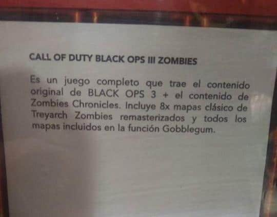 RUMOR: New \'Zombies Chronicles\' DLC coming to Black Ops 3 with 8 ...