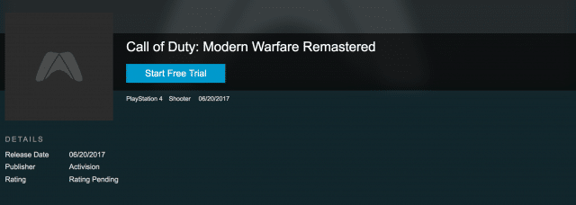 mw remastered