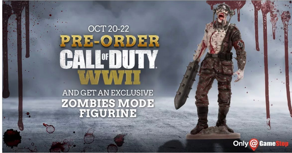Black Friday Gamestop 2017 >> Pre-order Call of Duty: WWII at GameStop Oct 20-22 and get exclusive Zombies figure | Charlie INTEL