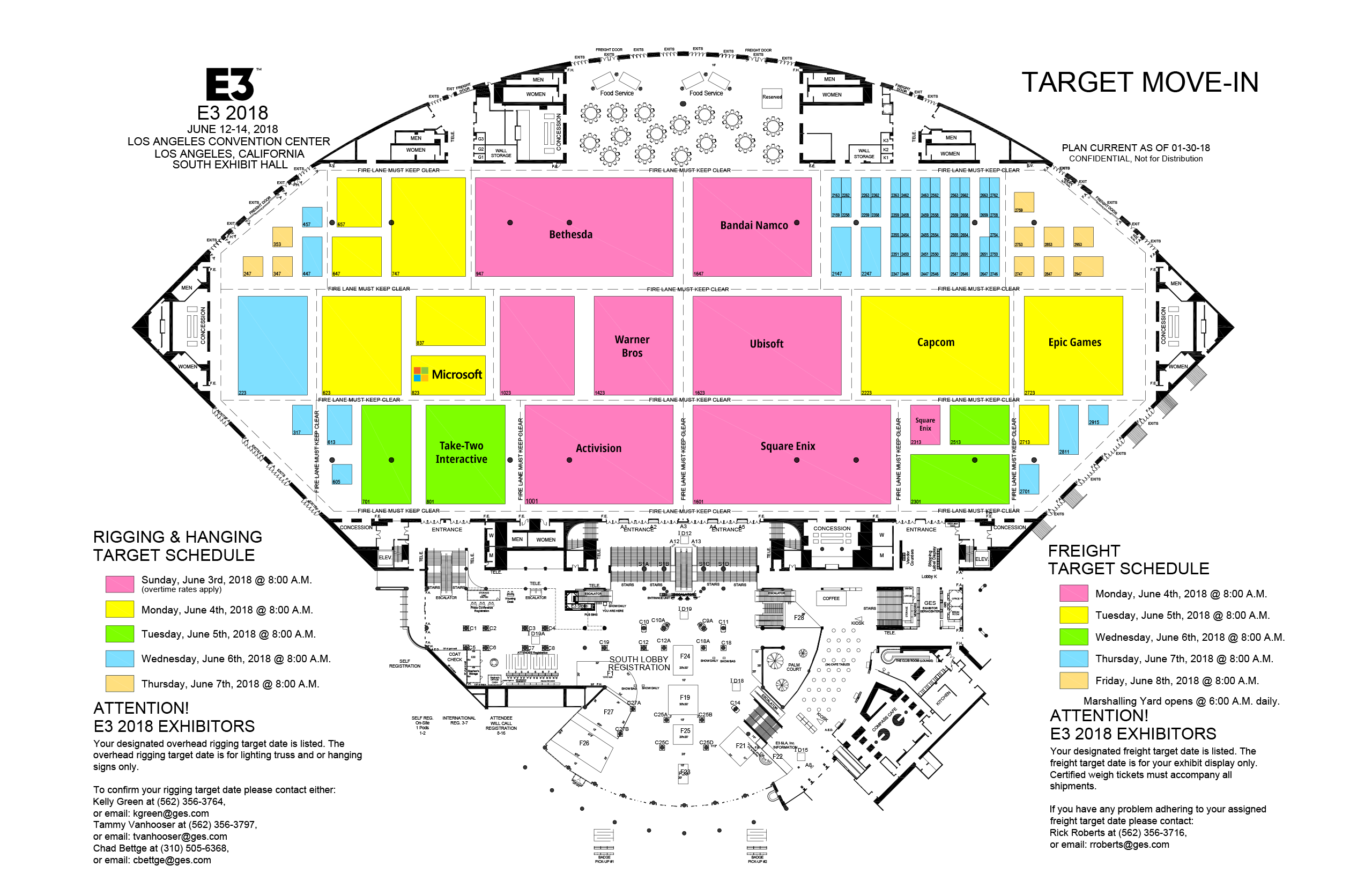 Preliminary E3 2018 Floor Plans revealed, confirms Activision will