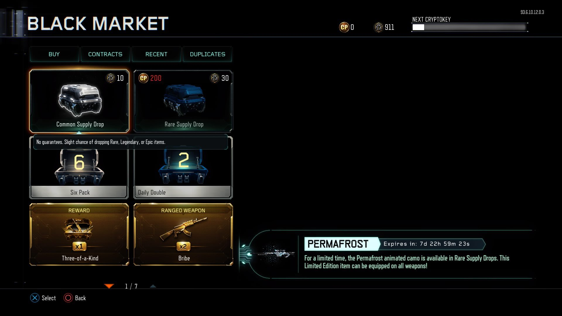 New weapons, Permafrost Camo, and Specialist Gear available in Black Ops 3's Black Market