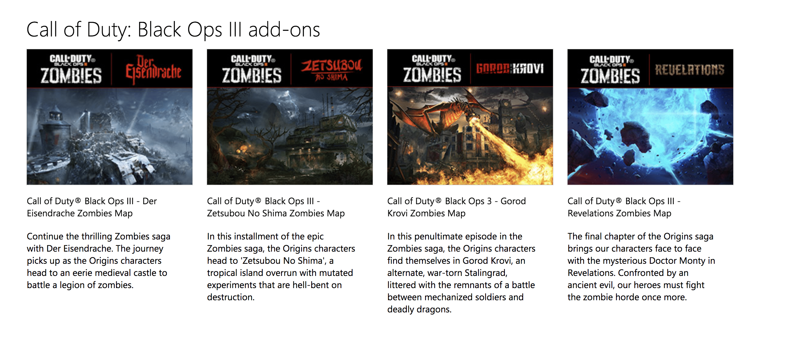 Call of Duty: Black Ops 3 Zombies DLC maps now available for