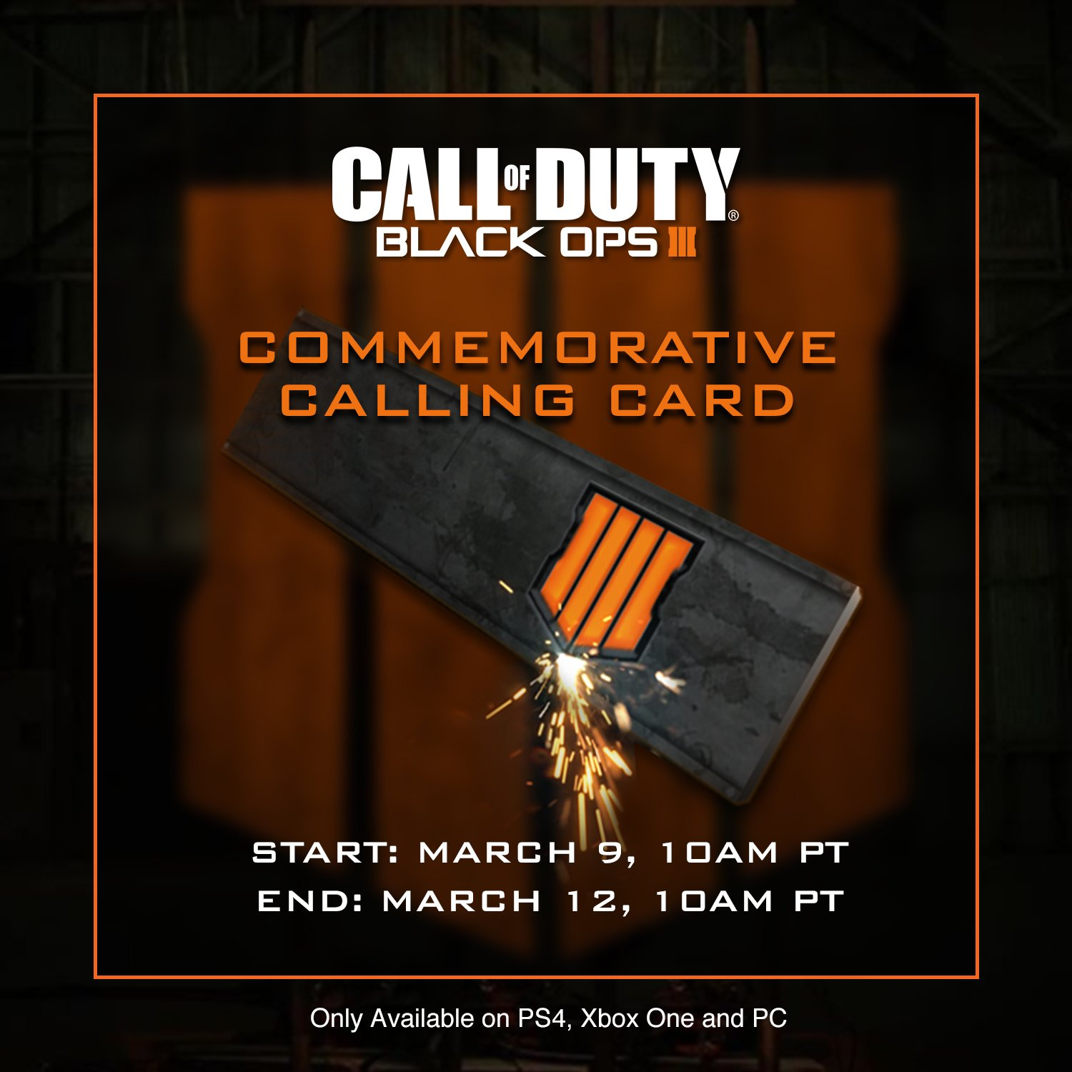 log into black ops 3 to receive a free black ops 4 calling card by