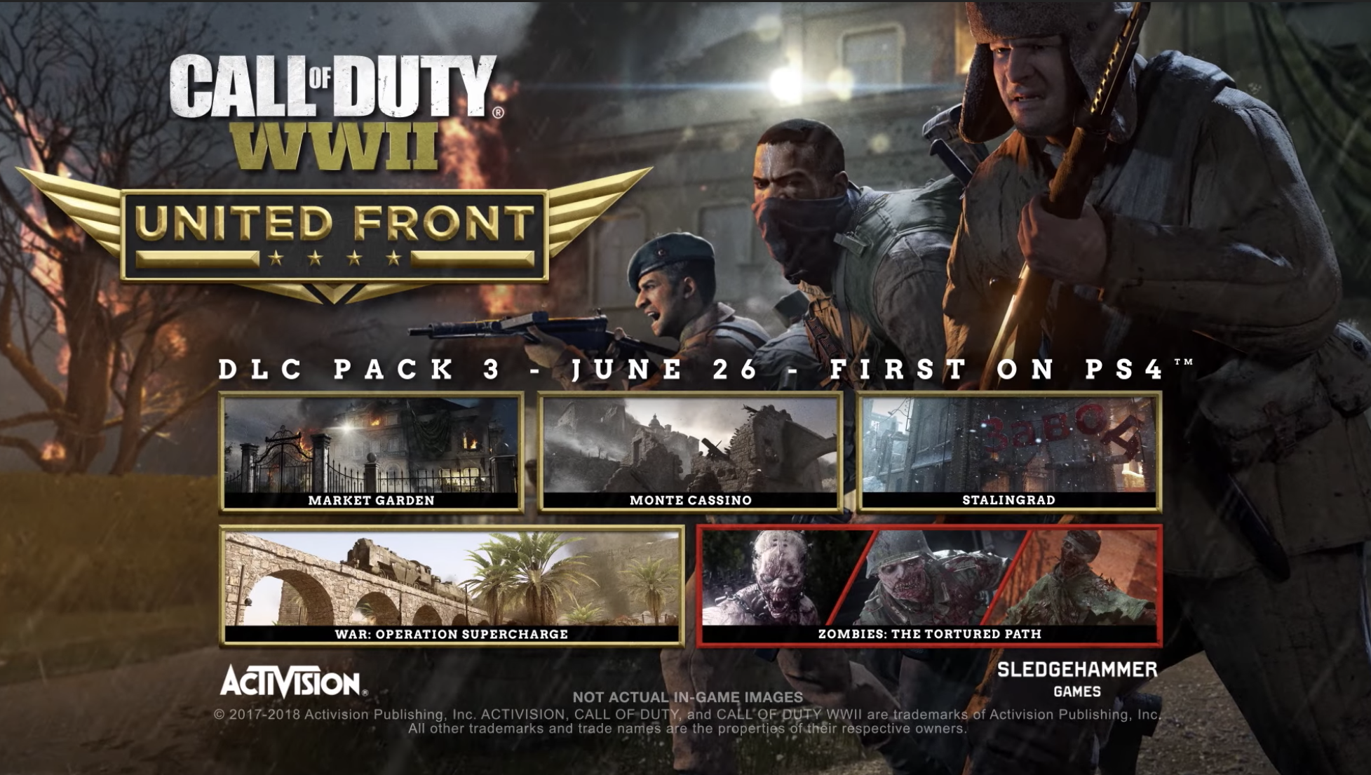 Call of Duty: WWII United Front DLC Pack 3 available June 26