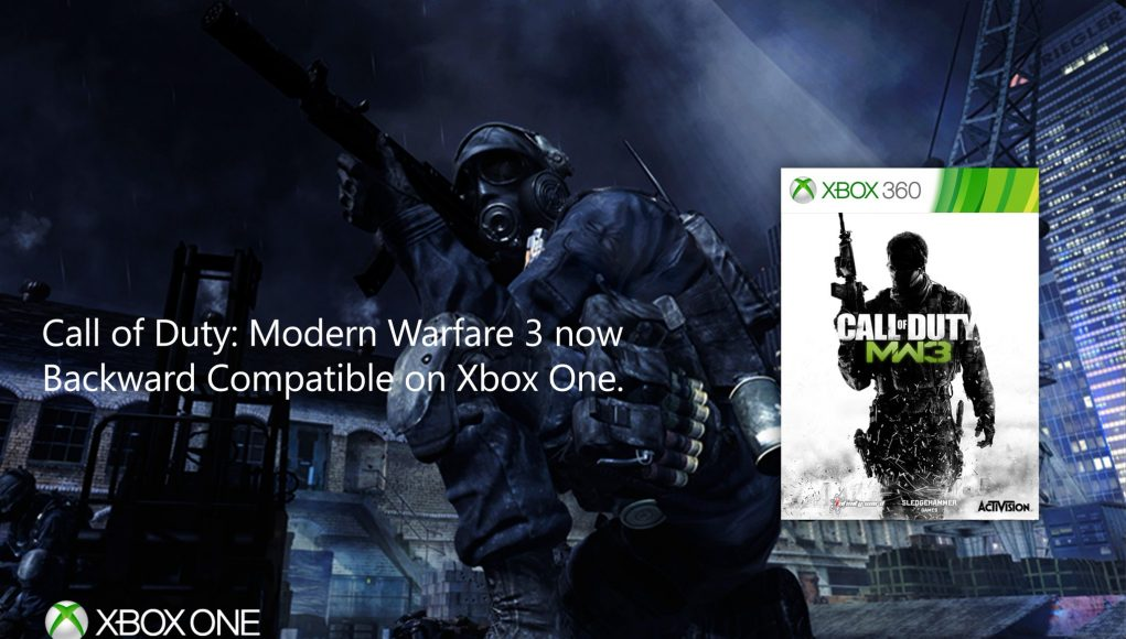 Call Of Duty Modern Warfare 3 Now Backwards Compatible On Xbox