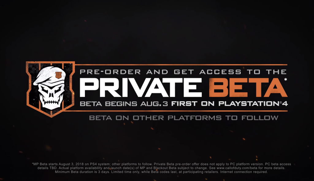 Call Of Duty Black Ops 4 Private Multiplayer Beta Faq Charlie Intel