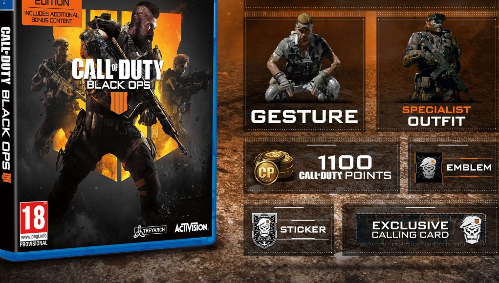 Call Of Duty Black Ops 4 Specialist Edition S Bonus Content
