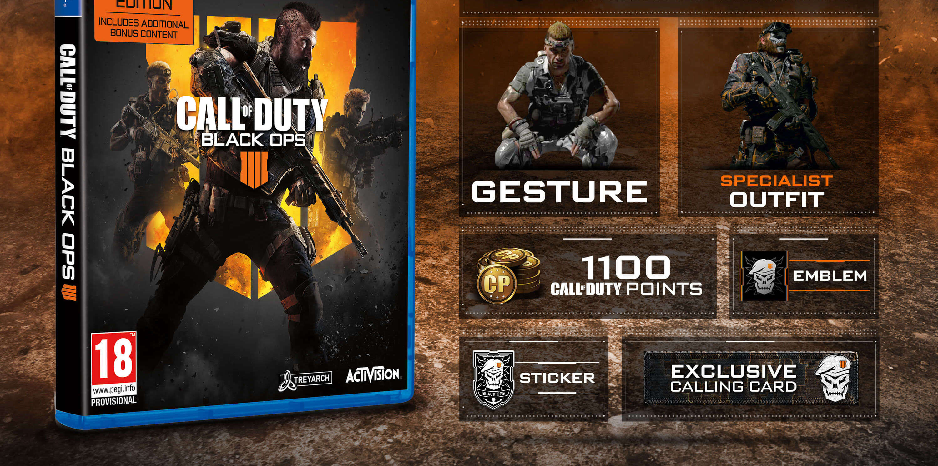 Call Of Duty Black Ops 4 Specialist Edition S Bonus Content Revealed Charlie Intel