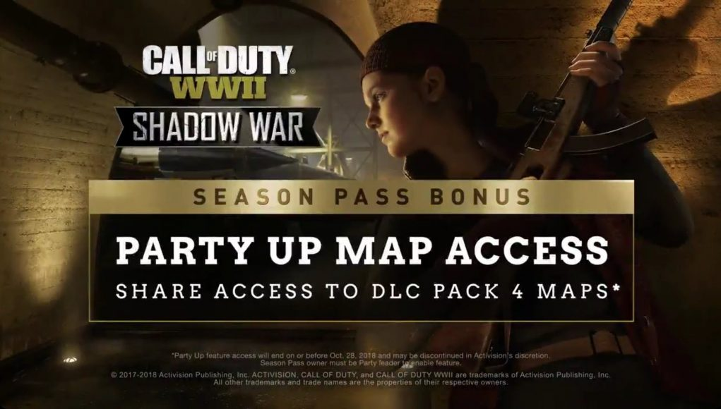 New Party Up Map Access feature for WWII announced | Charlie INTEL on