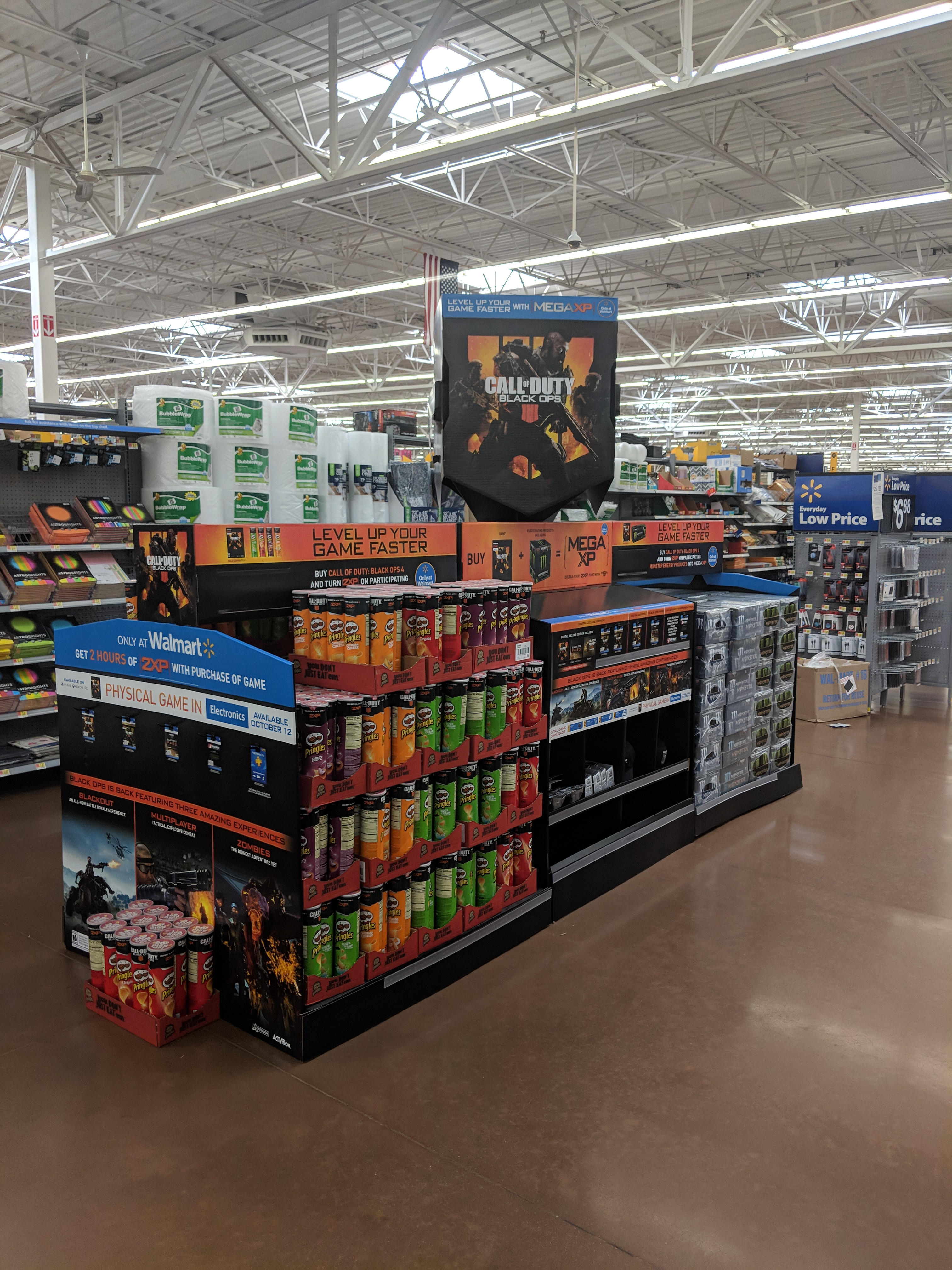 Call of Duty: Black Ops 4 display going up at Walmart Stores