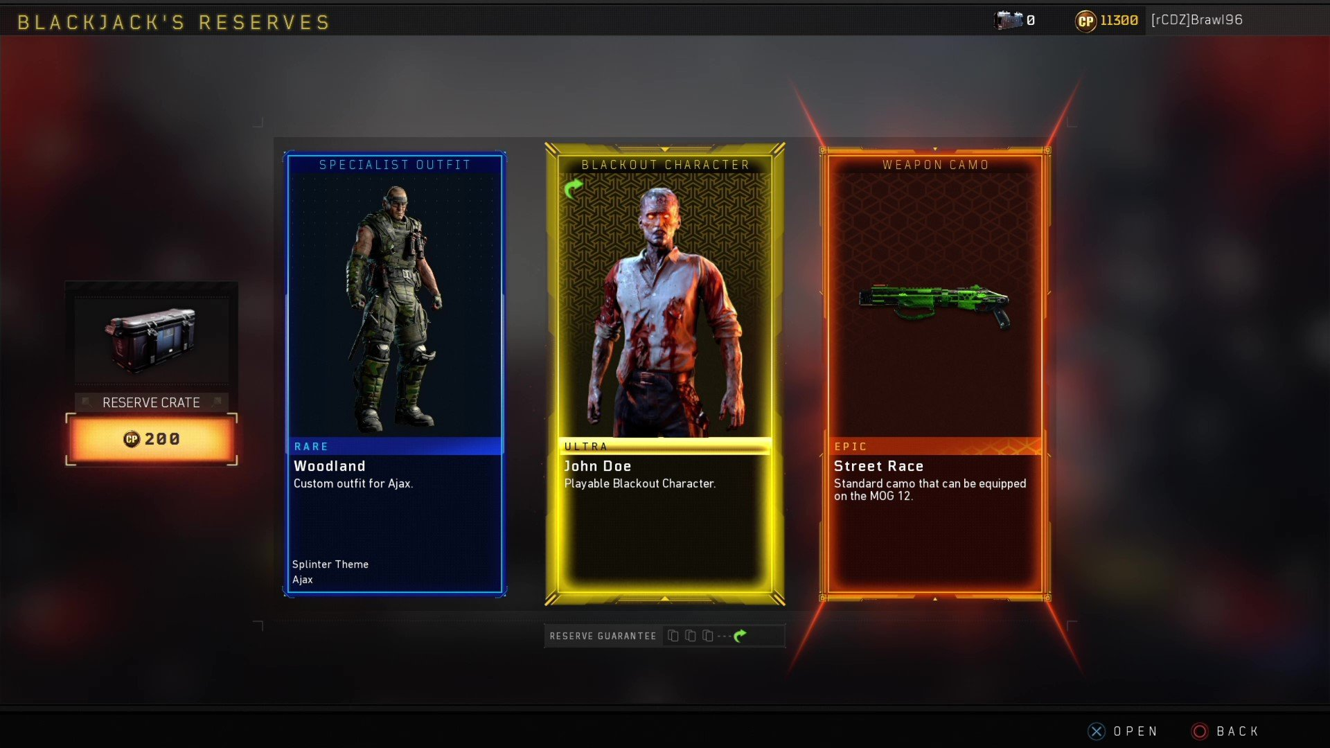 What Does 100 Get You In Call Of Duty Black Ops 4 Reserve Crates