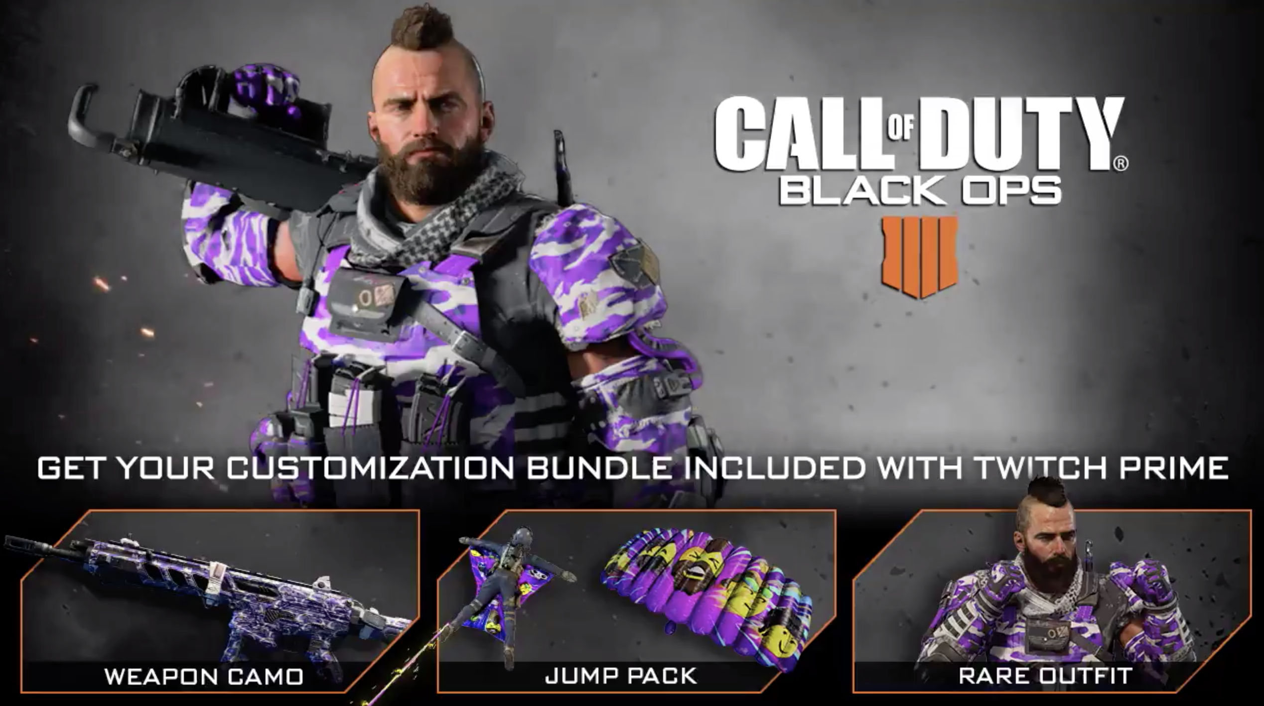 Only one more day to claim Twitch Prime Customization Bundle for