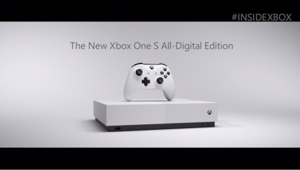 Xbox One S All-Digital Edition Officially Revealed