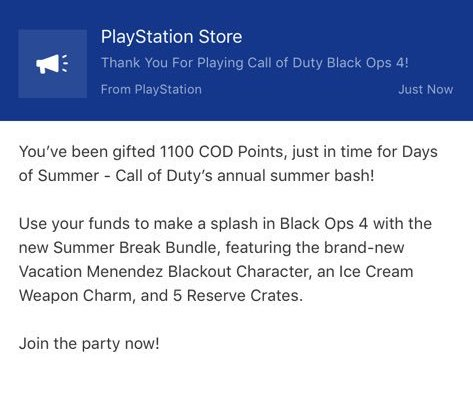 PlayStation awarding free Call of Duty Points to fans as
