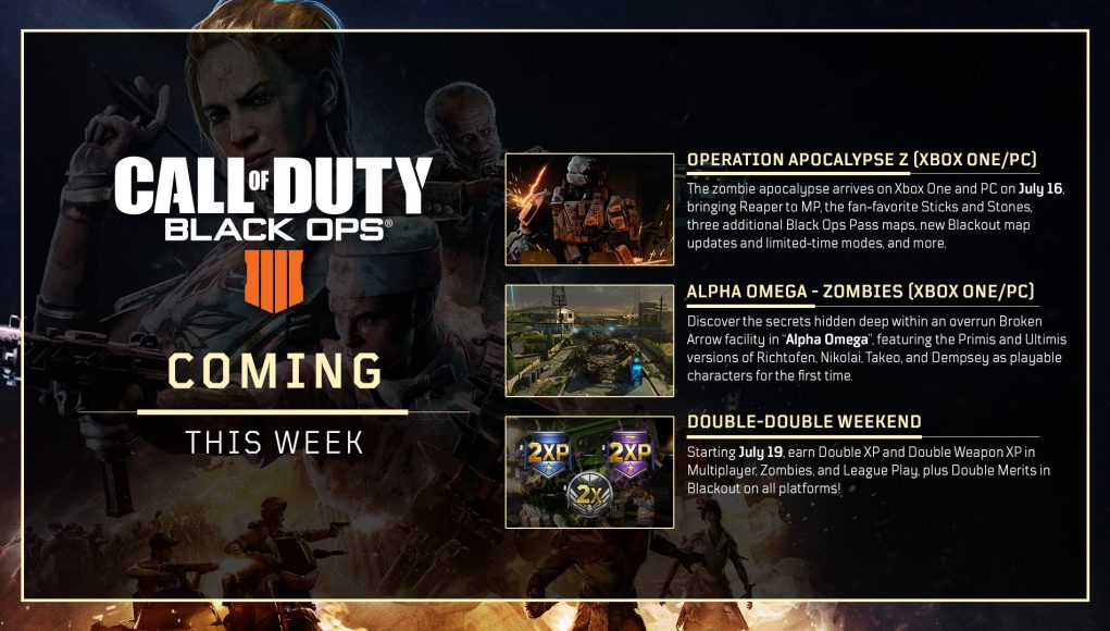 Coming This Week To Call Of Duty Black Ops 4 Double Xp And More