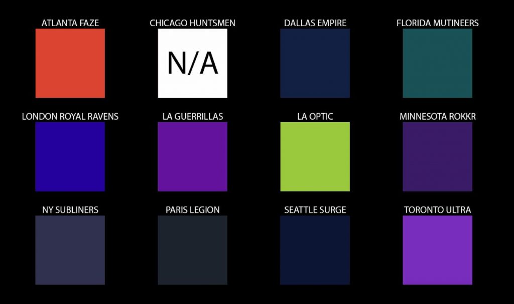 Report: All Call of Duty League team names and colors leaked