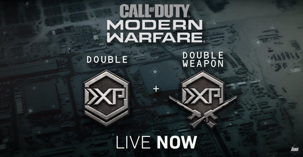 Double XP now activated in Call of Duty: Modern Warfare