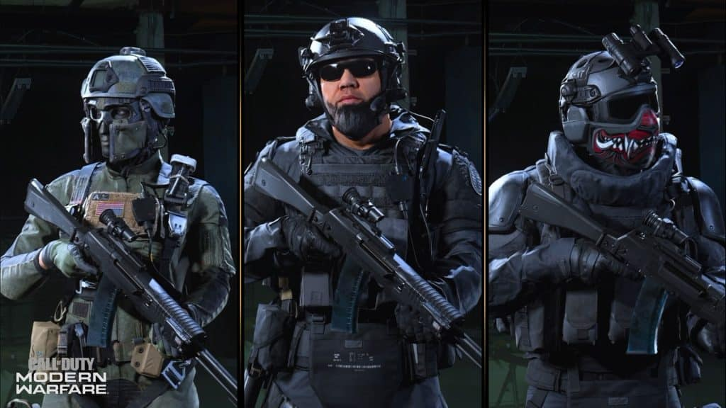 cod modern warfare operators
