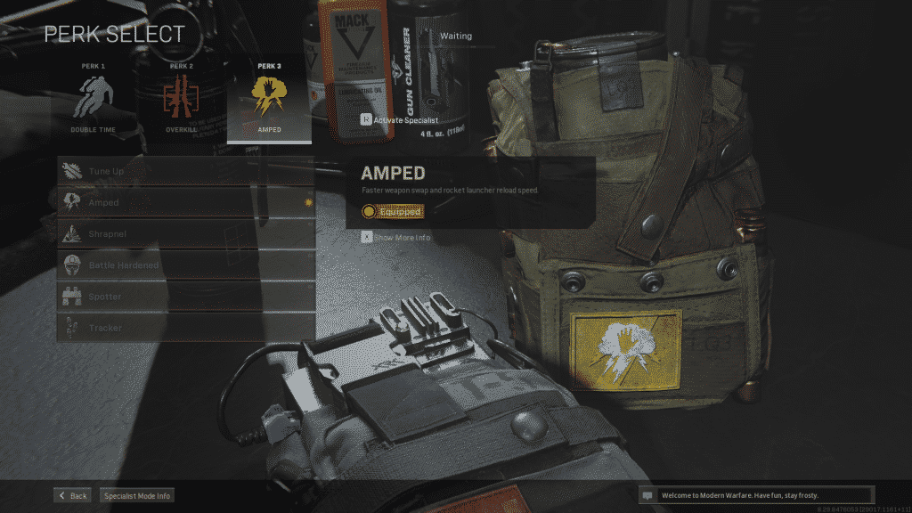 amped perk in warzone