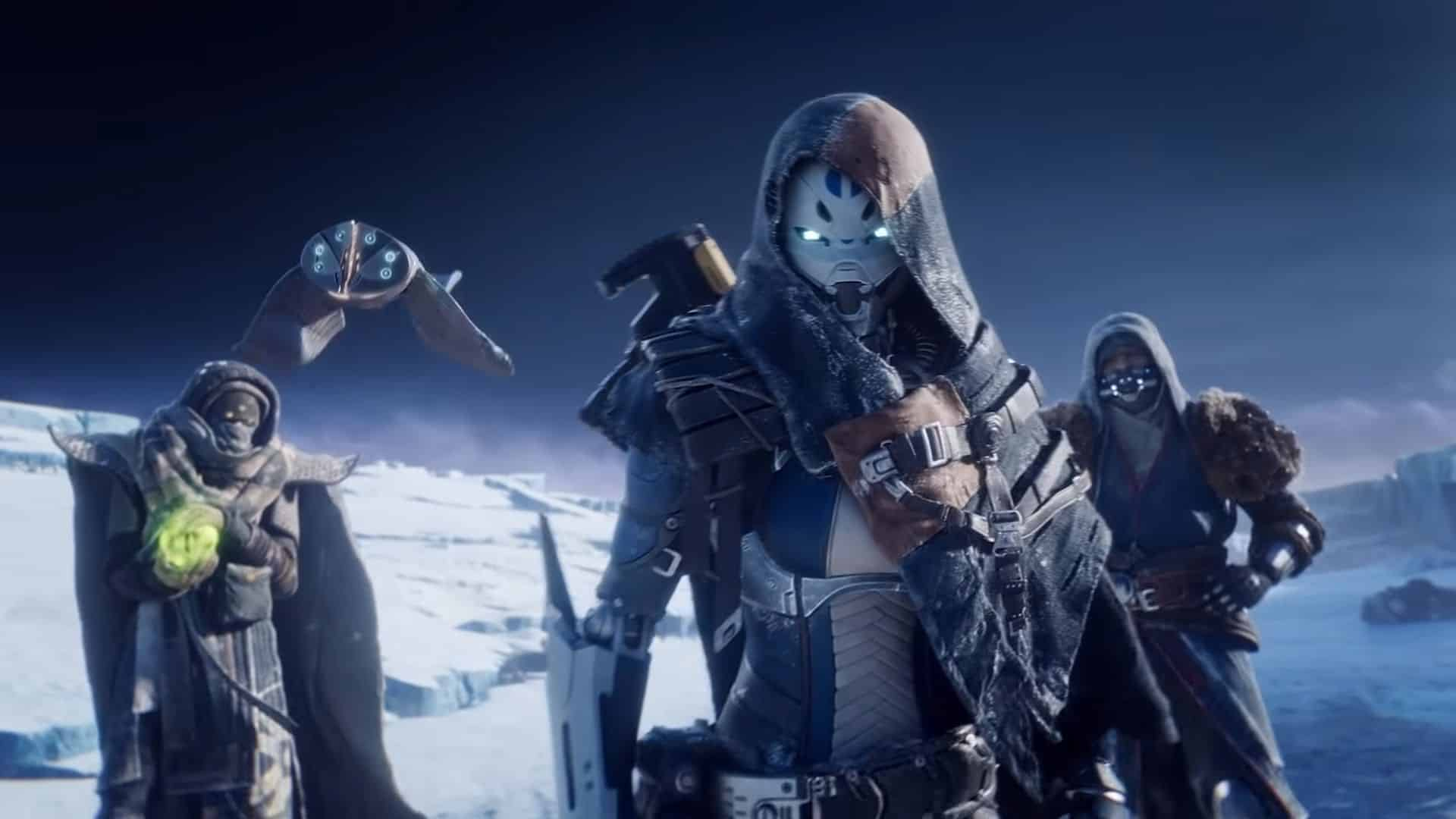 guardians facing the camera in destiny 2