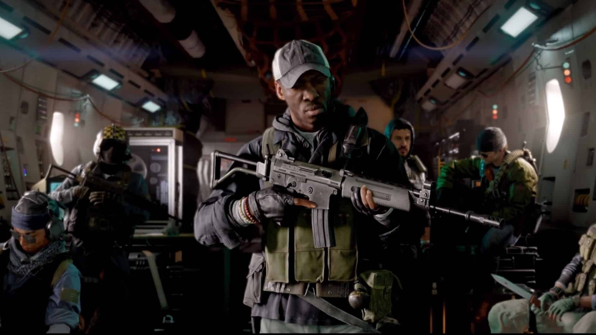 soldier holding a krig 6 in bocw trailer