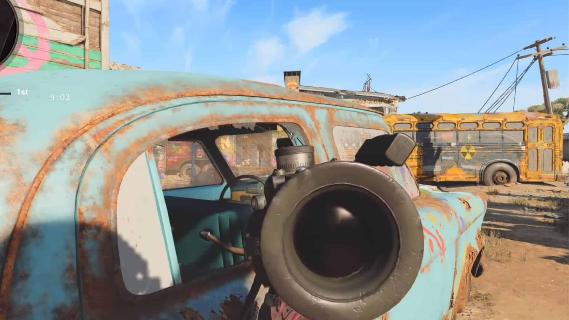 the blue car in nuketown 84 in bocw