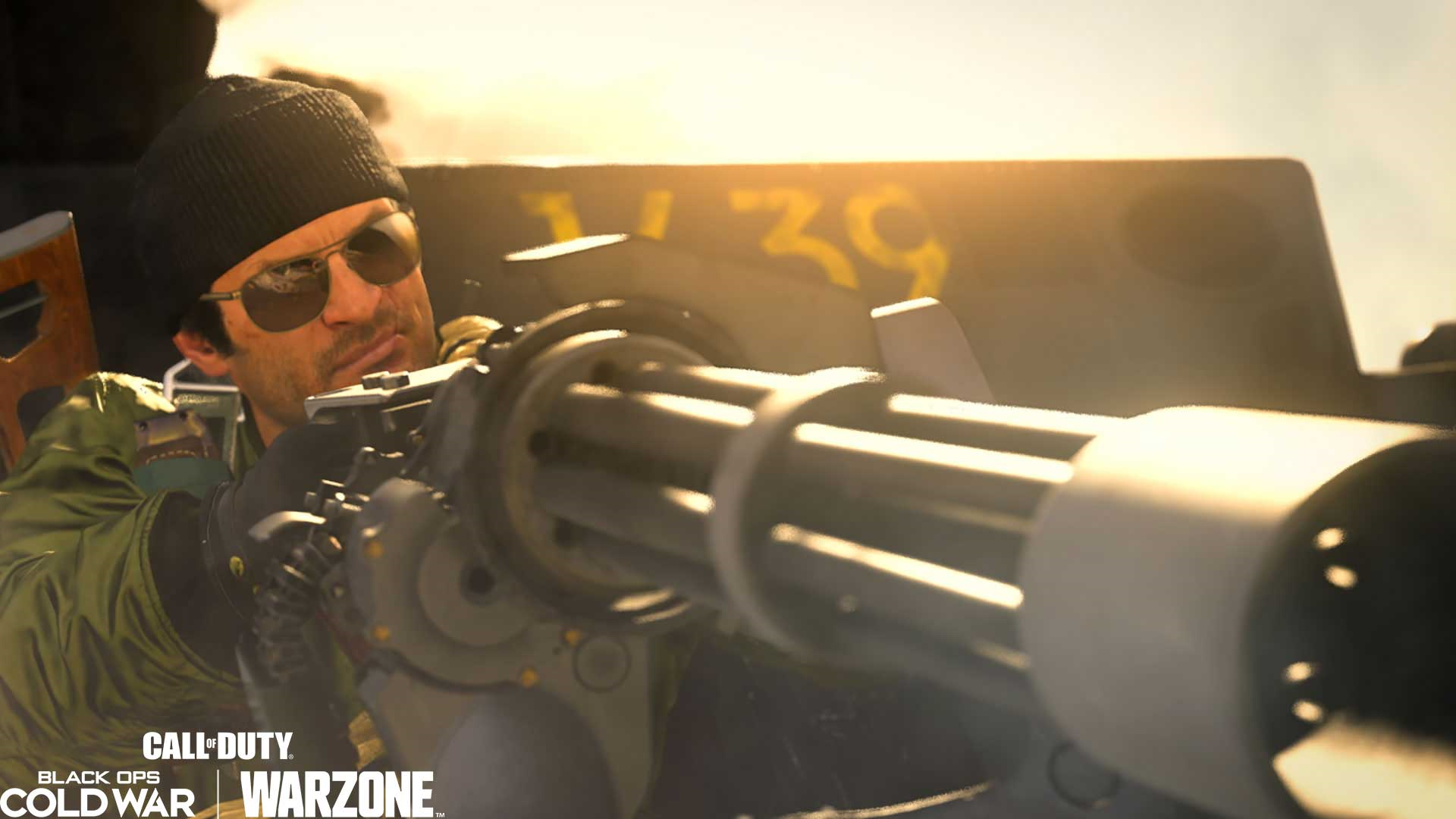 Operator Adler uses the Attack Helicopter mini-gun in CoD: Warzone